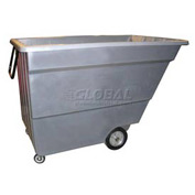 Bayhead Products Gray Light Duty 1.7 Cubic Yard Tilt Truck 1000 Lb. Capacity
