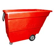 Bayhead Products Red Light Duty 1.7 Cubic Yard Tilt Truck 1000 Lb. Capacity