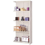 "Lyon Steel Shelving 20 Gauge 48""W x 18""D x 84""H Closed Clip Style 5 Shelf Py Add-On"