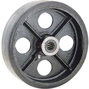 "8"" x 2"" Mold-On Rubber Wheel - Axle Size 1/2"""