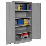 Tennsco Industrial Storage Cabinet 2470 02 - 36x24x78 Medium Grey