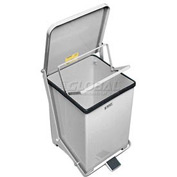 Rubbermaid® ST40RB Defenders® Fire Safe Step On Stainless Steel Trash Can, 40 Gallon