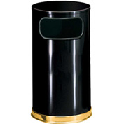 Round Trash Container With Flat Lid