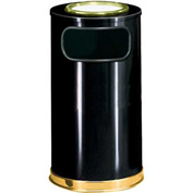 Round Trash Container With Ashtray Lid