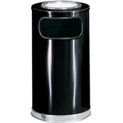 Round Trash Container With Ashtray Lid 12 Gallons