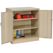 Tennsco Counter Height Industrial Storage Cabinet 1842 214 - 36x18x42 Sand