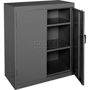 Sandusky Elite Series Counter Height Storage Cabinet EA22361842 - 36x18x42, Black