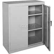 Sandusky Elite Series Counter Height Storage Cabinet EA22361842 - 36x18x42, Gray