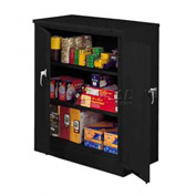 Tennsco Counter Height Metal Storage Cabinet 4218 03  - Welded 36x18x42 Black