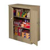 Tennsco Counter Height Metal Storage Cabinet 4218 214  - Welded 36x18x42 Sand