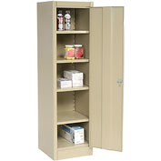 Compact Storage Cabinet 18x18x66 Tan
