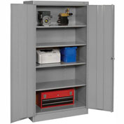 Tennsco Metal Storage Cabinet 1470 02 - 36x18x72 Medium Grey