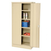Compact Storage Cabinet 30x15x66 Tan