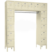 Penco 68231X-073-KD VanGuard Locker 16 Person 72x18x72 16 Doors Ready To Assemble Champagne