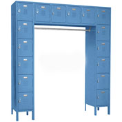Penco 6579V-806KD VanGuard Locker 16 Person 72x18x72 16 Doors Ready To Assemble Marine Blue