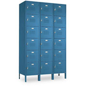 Penco 6365V-3806-SU Vanguard Locker Six Tier 12x12x12 18 Doors Assembled Marine Blue