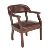 Boss Conference Chair with Arms - Vinyl - Red