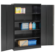 Tennsco Jumbo Storage Cabinet J1878A-N 03 - Unassembled, 48x18x78 Black