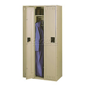Tennsco Steel Locker STS-121260-C 214 - Single Tier No Legs 3 Wide 12x12x60 Assembled, Sand