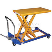 Vestil Foot Operated Mobile Scissor Lift Table CART-24-10-M 48 x 24 1000 Lb.