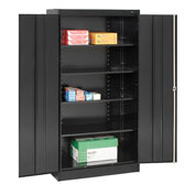Tennsco Metal Storage Cabinet 1480 03 - 36x24x72 Black