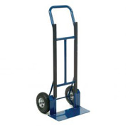 Industrial Strength Steel Hand Truck with Curved Handle 600 Lb. Capacity