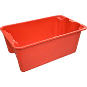 "Molded Fiberglass Toteline Nest and Stack Tote 780408 - 20-1/2"" x 12-7/8"" x 8"", Pkg Qty 10, Red - Pkg Qty 10"