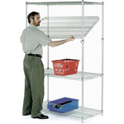 Quick Adjust Wire Shelving 48x14x74