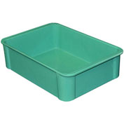 "Molded Fiberglass Toteline Stacking Tote 802008 - 16-1/2""L x 11-3/8""W x 4-5/8""H, Green"