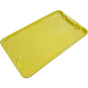 "Molded Fiberglass Toteline Nest and Stack Lid 780518 - 24-1/4"" x 14-3/4"", Yellow - Pkg Qty 10"
