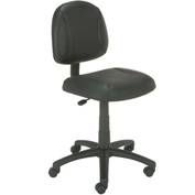 Boss Task Chair - Leather - Black