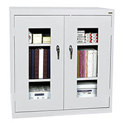 Sandusky Clear View  Counter Height Cabinet CA2V362442 - 36x24x42, Light Gray