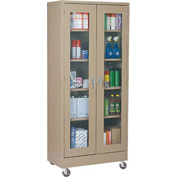 Sandusky Mobile Clear View Storage Cabinet TA4V361872 - 36x18x78, Putty