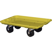 "Molded Fiberglass Toteline Dolly 780238 for 17-7/8"" x10""-5/8"" x 5"" Tote, Yellow"