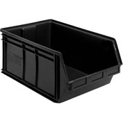 Quantum Plastic Stacking Bins - Parts Storage Bin QUS265 8-1/4 x 18 x 9 Black - Pkg Qty 6