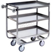 Jamco Stainless Steel Shelf Truck XN248 48x24 3 Shelves