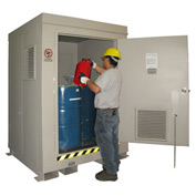 Outdoor Hazardous Chemical Storage Building - 4 Drum