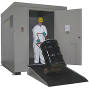 Outdoor Hazardous Chemical Storage Building - 12 Drum