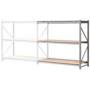 "Extra High Capacity Bulk Rack With Wood Decking 96""W x 18""D x 72""H Add-On"