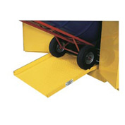 "Global&#8482 Steel Ramp For Drum Storage Flammable Cabinet - 23""W x 25""D x 4'H"
