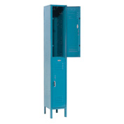 Paramount® Locker Double Tier 12x15x36 2 Door Ready To Assemble Blue