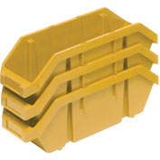 Quantum Quickpick Double Plastic Hopper Bin QP1496 9-1/4 x 14 x 6-1/2 Yellow - Pkg Qty 20