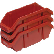 Quantum Quickpick Double Plastic Hopper Bin QP1867 6-5/8 x 18-1/2 x 7 Red - Pkg Qty 10