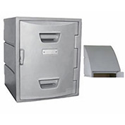 Box Plastic Locker for 4 Tier - Sloped Top 15X15X29 Gray