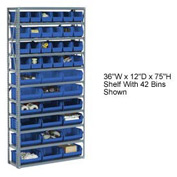 Bin Shelving Open Shelving 36x12x73