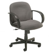 Office Chair - Designer Fabric - Mid Back - Gray