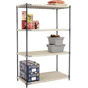Vented Plastic Shelving 48x24x74 Nexelon Finish