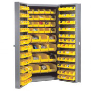 Bin Cabinet Assembled With 40 Inside 96 Door Bins