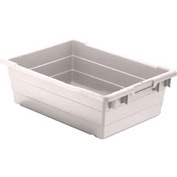 Quantum Cross Stack Nest Tub TUB1711-8 - 17-1/4 x 11 x 8 White - Pkg Qty 6