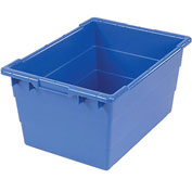 Quantum Cross Stack Nest Tub TUB2417-12 - 23-3/4 x 17-1/4 x 12 Blue - Pkg Qty 6